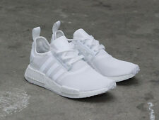 "ADIDAS NMD R1 SHOES BA7245 ""TRIPLE WHITE"" US MENS SZ 4-11 kanye"