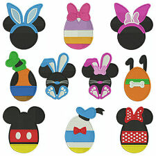 MICKEY EASTER * Machine Embroidery Patterns * 10 Designs, 3 sizes