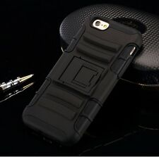Black HeavyDuty Hybrid 2in1 Rugged Kickstand Case for  iphone 5 5s{wc3