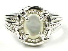 Mother of Pearl, 925 Sterling Silver Ring, SR284-Handmade