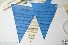 The Beatles ALL YOU NEED IS LOVE unique WEDDING BUNTING music/lyrics !!! FAB !!!
