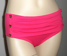 JUICY COUTURE *NWT* MISS DIVINE HEARTS BUTTON SHEATH BIKINI BOTTOMS ~ XSM or SM