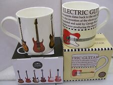 Fine China Mug Guitar Legends featuring Gibson Fender Gretsch Ibanez