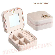 Small Leather jewelry Storage Case travel rings necklac Organizer Box 8 colors