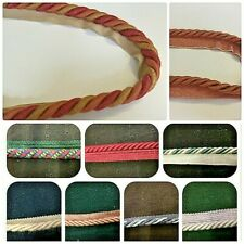 Chenille & Twisted Flanged Curtain/Upholstery Insertion Cord 12 Colours