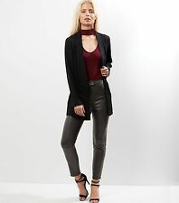 -% NEW LOOK Imitation Leather Skinny High Waist Trousers SEXY UK 6 RRP £24.99