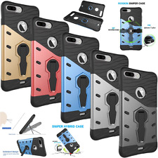 Hybrid Rugged 360° Rotate Kickstand Matte Cover Armor Case For Apple iPhone 7