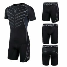 Men Compression Sport Training Fit Skin Pants Gym Exercise Racing Tight Shorts