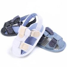 Toddler Baby Boy Girl Breathable Denim Sandal Summer Hollow Shoes Soft Sole New