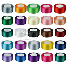 "1 Roll 25 Yards Satin Ribbon Craft 1.5"" 38mm Wide Bow Wedding Party Supply C62S"