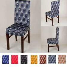 Stretch Short Dining Stool Chair Cover Home Chair Slipcover Flat Paddy Protector