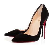 New Christian Louboutin So Kate 120mm Suede Black Pumps IT size 34-42