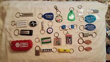 Assorted Automobile Car Dealership Key Chains
