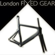 London FIXED GEAR 'T.o.r.' Track Frame-set Carbon Pista