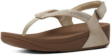Brand New FitFlop C31-137 Women's Nude Crystal Swirl Strap Sandals