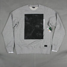 Lifted Research Group - LRG The L-Coalition Crewneck Sweatshirt in Heather Gray