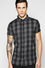 Boohoo Mens Short Sleeve Check Shirt