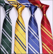 Harry Potter Tie Gryffindor Slytherin Hufflepuff Ravenclaw Cosplay Costume Ties