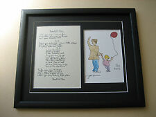 THE BEATLES John Lennon BEAUTIFUL BOY Hand Written Framed Lyrics PRESENTATION