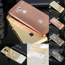 Luxury Brushed Aluminum Skin Frame Phone Case Back Cover For Huawei Nova Plus