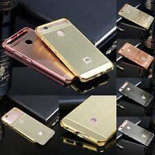 Luxury Brushed Aluminum Metal Frame Skin Phone Case Back Cover For Huawei Nova