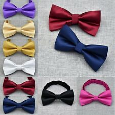 Mens Stylish Solid Color Bowtie Wedding Party Business Bow Tie NEW ARRIVAL