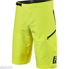 FOX SHORTS MTB MOUNTAIN BIKE DEMO FREERIDE SHORT FLUORESCENT YELLOW down hill
