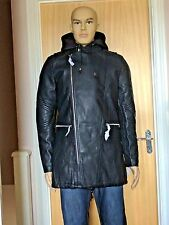 Mens Black Hooded Parka Coat by Terance Kole available Sizes Medium/Large BNWT