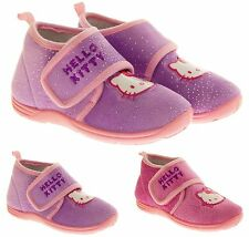 Girls Official Hello Kitty Ankle Slipper Boots childrens Size 8 8.5 9 10 11 12