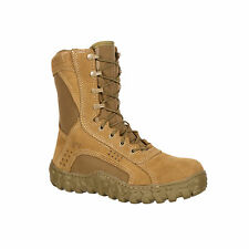Rocky Mens Coyote Brown Leather S2V Steel Toe Tactical Military Boots