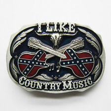 Cross Guitar Country Music Belt Buckle Gurtelschnalle Boucle de ceinture