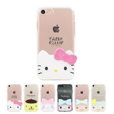 Hello Kitty 3D Edge Cutie Jelly Slim Bumper Cover Case For Apple iPhone 7 Plus