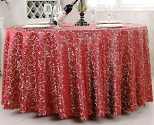 Tablecloth Round Polyester Floral Print Wedding Restaurant Banquet Table Covers