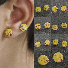 1 Pair Alloy Emoji Expressions Ear Studs Earrings Girls Jewellery Party Gift