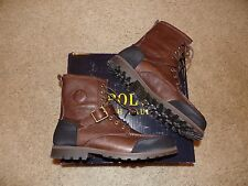 Polo Ralph Lauren Weybrook/Ranger Mens Brown/Black Leather Ankle Hiking Boots