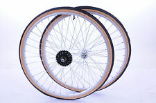 26x1 3/8 MULTI SPEED WHEEL SET WITH TYRES,TUBES & FREEWHEEL SUIT 26x1 1/4 BIKES