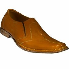 Light Brown Genuine Leather Handmade Men's Casual Shoes Stylish Sizes Gents Gift