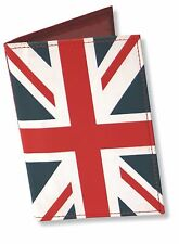 Ashford Ridge Union Jack Real Leather Passport Cover Case Holder