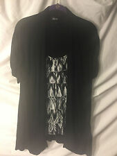 IZ Byer California Womens Black and White Dress Top- Size L