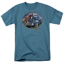HORSE WITH PICKUP TRUCK Picture Farmer Adult T-Shirt All Sizes