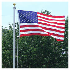18 FT. STEEL FLAGPOLE W/ 3'x5' U.S.FLAG 3'x5' STATE FLAG &(2) CAR ANTENNA FLAGS