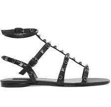 New Valentino Rockstud Cabochons Leather Sandals