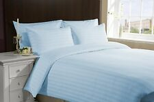 1200 Thread Count Egyptian Cotton 3 PC's Duvet Set Light Blue Stripe