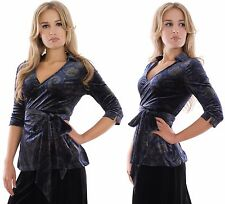 Ladies Elegant Evening Wrap Top Spring Party Wedding Cruise Velvet By MontyQ