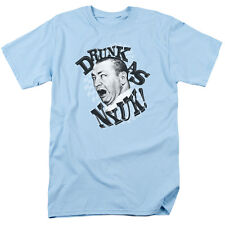 Three Stooges DRUNK Licensed Adult T-Shirt All Sizes