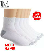 New 12 Pairs Ankle/Quarter Crew Mens Socks Cotton Low Cut 10-13 White LOT USA
