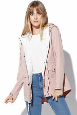 New ALL ABOUT EVE Womens Edwards Parka Pink