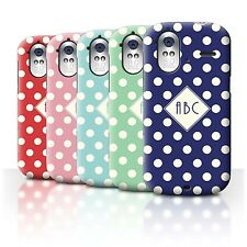 Personalized Custom Polka Dot Phone Case for HTC Amaze 4G/Initial/Name Cover