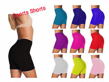 LADIES WOMENS CYCLING  SPORTS GYM SHORTS PLUS SIZE  DANCING SHORTS SIZE   8-26