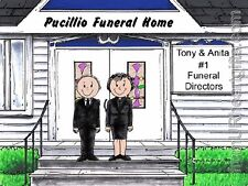 PERSONALIZED CUSTOM CARTOON PRINT - FUNERAL DIRECTOR  - GREAT GIFT! FREE S/H